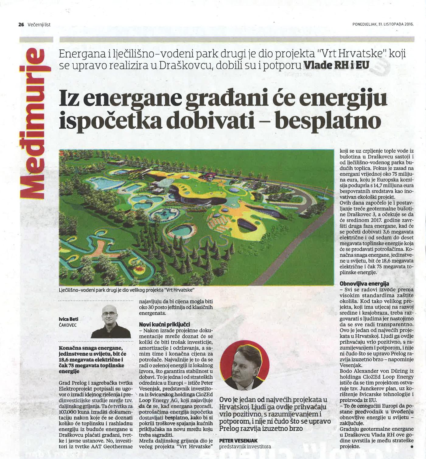 Večernji List – Iz energane građani će energiju ispočetka dobivati – besplatno